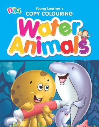 Water Animals : Copy Colouring Book