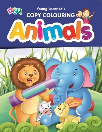 Animals : Copy Colouring Book
