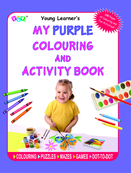 My Purple Colouring and Activity Book