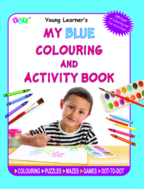 My Blue Colouring and Activity Book