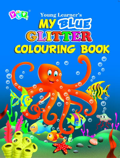 My Blue Glitter Colouring Book