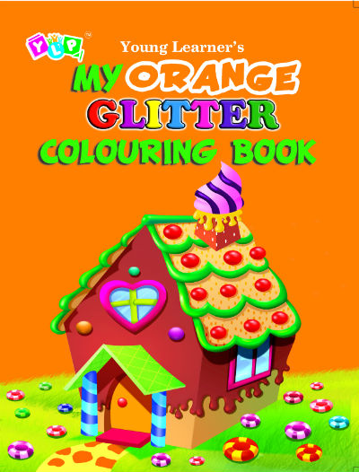 My Orange Glitter Colouring Book