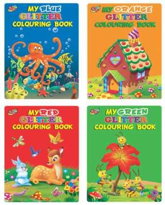 My Glitter Colouring Books (4 Titles)