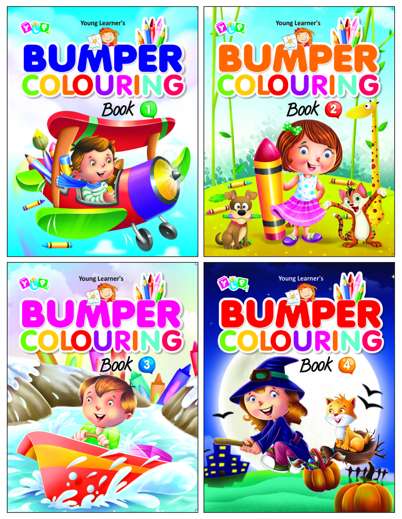 Bumper Colouring  ( Set of 4 Titles)